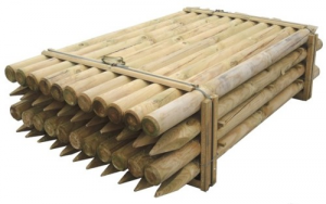 Pole Pine Wood Impregnated For Fence Cm 8X150 Nails