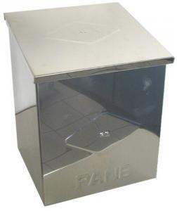 Cassetta Acciaio Inox Per Solo Pane Cm 25X33X23 Ferramenta