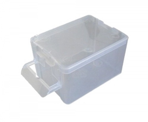 Set 100 Box Polypropylene 2 mm 50X65X40 With Cover Tools Manual