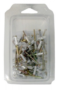 Set 5 Rivets Aluminum Head Extra Wide mm 4.8X14 Pieces 50 Tools Manual