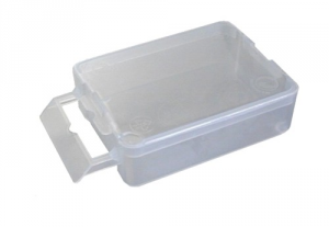 Set 100 Box Polypropylene 1 mm 50X65X20 With Cover Tools Manual
