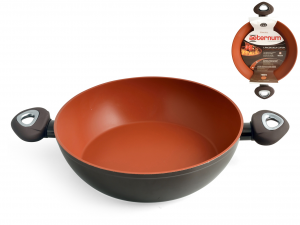 AETERNUM Pan 2 Handles Non-stick Madame Earth Cm 24 Cooking pot