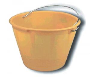 Balde Plástico Amarillo Para Malta Construcción