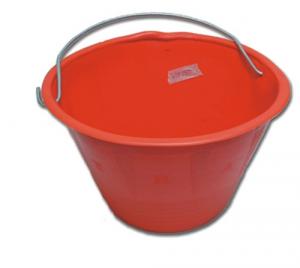 Balde Plástico Pesado Rojo Para Malta Construcción