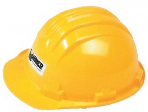 Helmet Politene Protection Wing Narrow - Yellow Accident prevention Protection