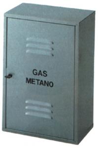 Armadietto Zincato Smontato Per Gas Cm 50X60X25 Idraulica Contatori-Armadi