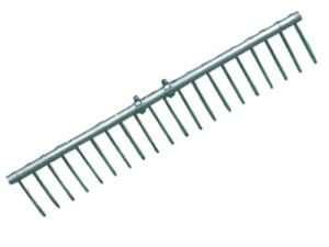 Rastrello Alluminio Da Fieno 20 Denti Giardinaggio Attrezzi