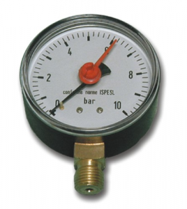 Manometro Per Autoclavi Attacco Inferiore M-63 0-10 Idraulica Pompe Elettriche