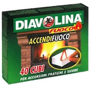 Set 24 Accendifuoco Diavolina 40 Cubetti Riscaldamento