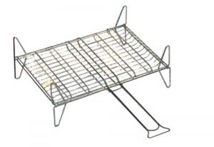 Graticola Doppia A Rete Con Piedini Cm 40X45 Giardinaggio Barbecues Accessori