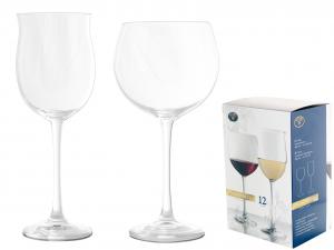 H&H Servizio 12 calici in vetro vintage (6 +6) Calici vino bicchieri tavola