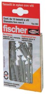 Set 20 Tassello FISCHER Con Vite S 8 Vk 10+10 Ferramenta