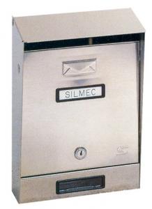 Cassetta Posta Inox 001 Cm 32,5X22X7,5/11 Con Tetto Ferramenta