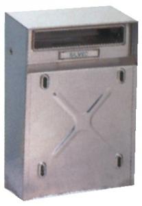 Cassetta Posta Inox 009 Cm 30,5X22X8,5/11,5 Per Ringhiere Ferramenta