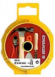 BETAFENCE Set 24 Filo Plasticato Brico F.Mm 0,8X1,25 Mt 50 Recinzioni-Chiodi
