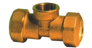 Connection Brass Te F mm 25X3.4X25 Hydraulics Fittings