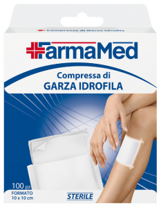 FARMAMED Garza Idrofila 10X10 100 Pezzi 05254  Parafarmacia E Cura Della Persona