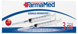 FARMAMED Siringa Monouso 3 Ml 10 Pezzi 05289  Parafarmacia E Cura Della Persona