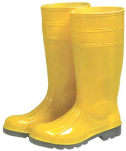 Stivali Pvc Gialli Puntale+Lamina In Acciaio N 40 Antinfortunistica Protezione