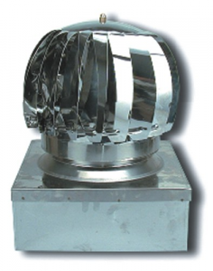 Aspiratore Eolico A Turbina-Inox 304 Cm 27X27 Riscaldamento