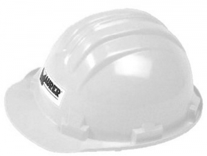 Helmet Politene Protection Wing Narrow - White Accident prevention Protection