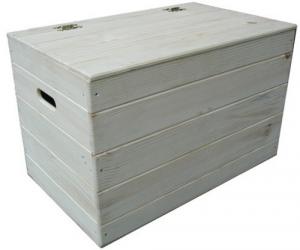Cofre de madera de abeto Natural Cm 73X35X33 Ferretería