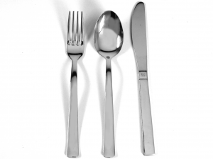 PINTI INOX Set of 12 Knives Stainless steel Table Point Cutlery