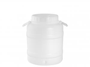 NUOVA PLASTICA Fusto in Polietilene Rinforzato Bocca Larga 30 lt Bianco