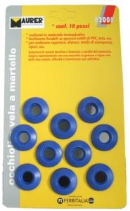 Occhioli Vela Plastica A Martello Pz 10 Giardinaggio