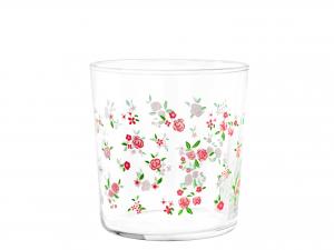 PASABAHCE Set 6 Bicchiere Vetro Decoro Spring Cl36 Arredo Tavola