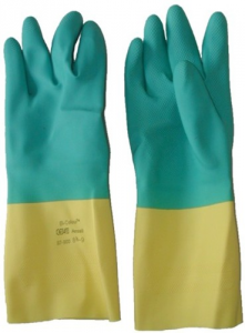Set 12 Gloves Latex Bi-Color Measure 9.5-10 Accident prevention Protection