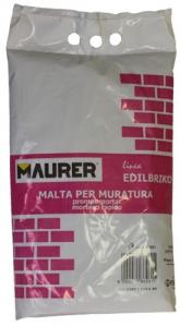 EDILBRIKO Set 5 Malta Per Muratura Edilbriko Sacco Kg 5 Colori Fa Da Te - Casa