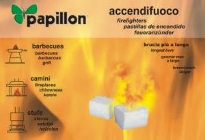 Set 24 Accendifuoco Papillon 48 Cubes Heating