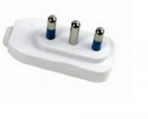 MAURER Plug Reduced White 2P + T 10A Material Electric Civil