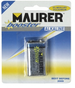 MAURER Set 10 Batteries Transistor Alkaline 9V Pieces 1 Material Electric