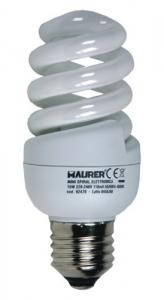 MAURER Set 10 Lampada Spiral Compact Risparmio Energetico E27 W15-4000K Materiale Elettrico
