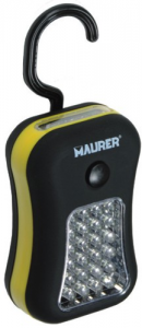 MAURER Flashlight 24 + 4 Led Magnetic With Hook Material Electric