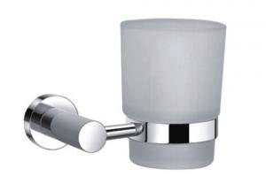 MAURER Porta Bicchiere Cromato Con Vetro Opaco Idraulica Arredo Bagno