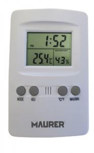 MAURER Termometro Digitale Con Igrometro Linea Casa