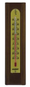 MAURER Termometro Parete Legno Noce Cm 20X5,4 Linea Casa