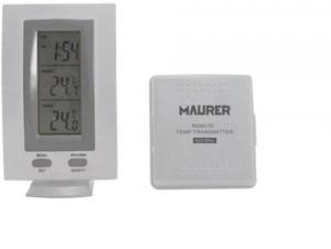 MAURER Termómetro Digital Con Sensor Exterior Línea Casa