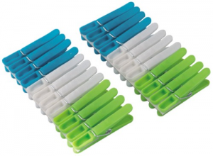 Plastic clothespins For Laundry Pack 24 Line Cleaning House