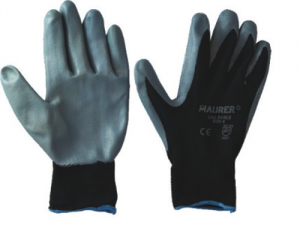 MAURER Set 12 Gloves Coating Nitrile Gray Measurers 9 Construction