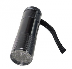 MAURER Flashlight Aluminum 9 Led 45 Lumen 3Aaa excluded Material Electric