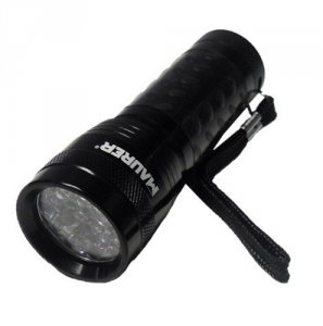 MAURER Flashlight Aluminum 14 Led 55 Lumen 3Aaa excluded Material Electric