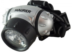 MAURER Torch From Head To 7 Led 3 Aaa Excluded Material Electric