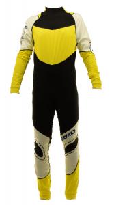 BRIKO VINTAGE Tuta sci fondo uomo KATANA RACING WORLD CUP nero giallo 0A4946