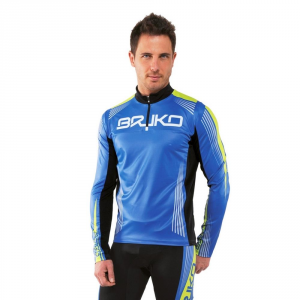 Briko Jersey Tender Ski Fund Man For Complete Racing  Blue Green Black 100024