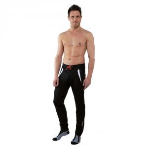 BRIKO Pantaloni sci fondo uomo antivento thermofit EVO LITE bianco nero 100032