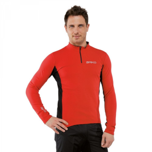 Briko Jersey Sporting Sleeves Long Man Multisport Jersey Red Black 100035